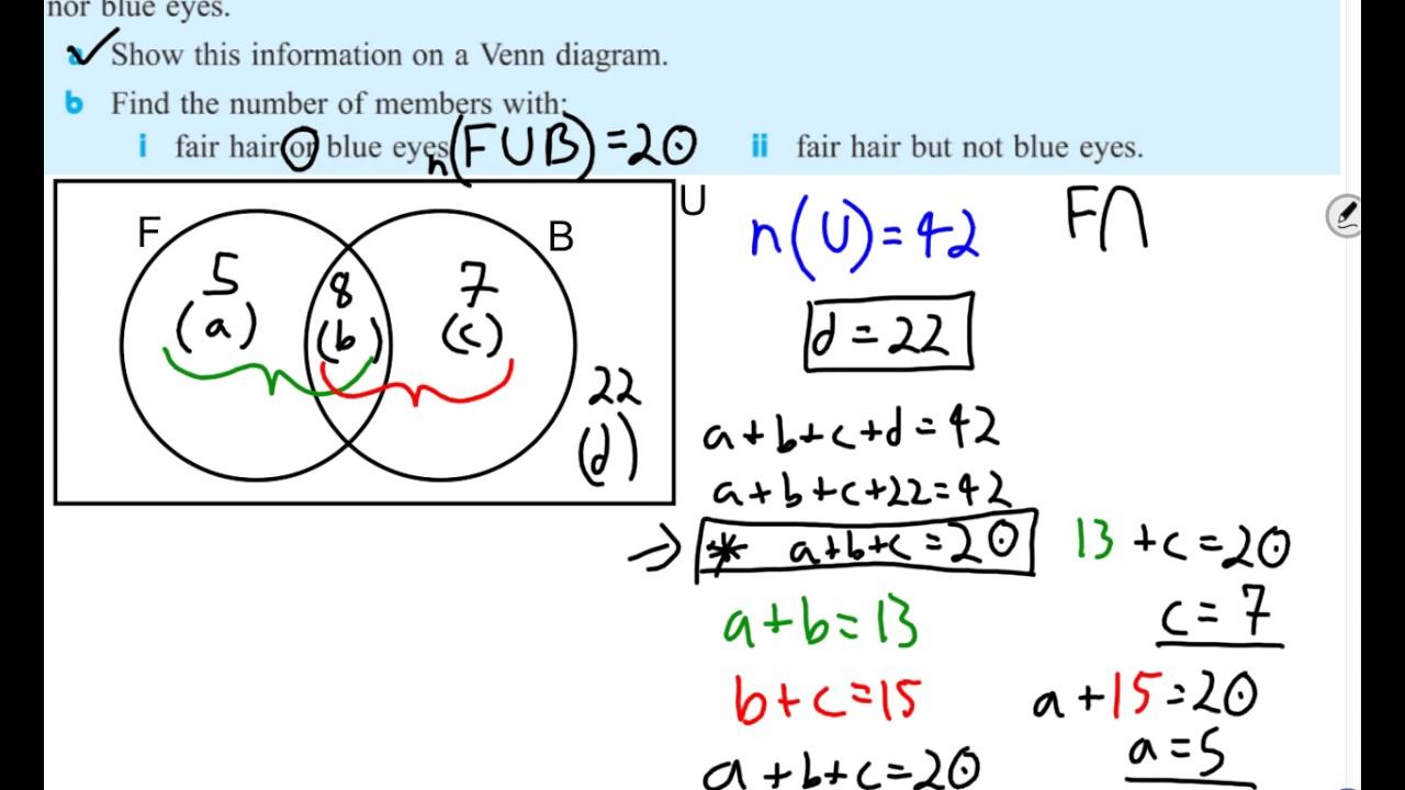 Problem solving with venn diagrams youtube problem solving with venn diagrams pooptronica Gallery