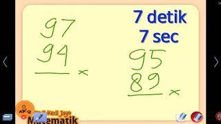 Cara Menghitung Perkalian Cepat PDKT 100 - Mahir 7 Detik