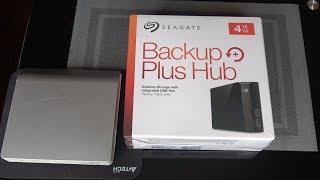 Обор и тест скорости Внешнего жесткого диска SEAGATE Backup Plus Hub STEL  объем 4TB