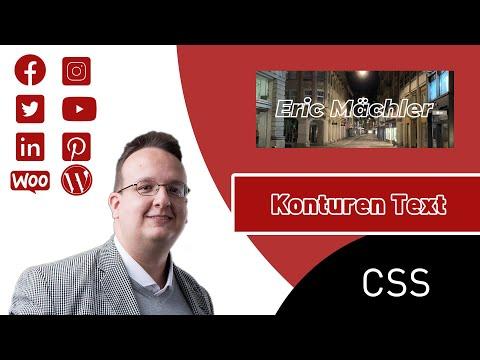 Text Mit Kontur Erstellen (Nur CSS Und HTML) [Anleitung / Tutorial]