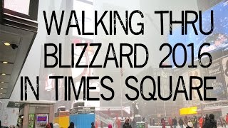 Walking thru Blizzard 2016 in Times Square and Central Park