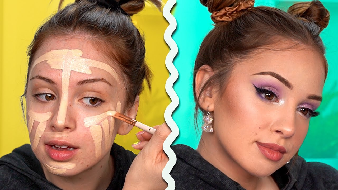 FRESH SUMMER Makeup Tutorial - Sparkly Lilac Smokey Eye
