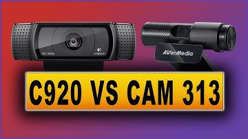 Logitech C920 vs AVerMedia Live Streamer CAM 313