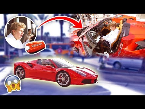 Thumbnail: HE'S 15 YEARS OLD & BOUGHT A $350,000 FERRARI (FIRST CAR!)