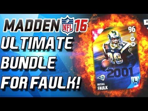 ULTIMATE BUNDLE! MARSHALL FAULK! - Madden 16 Ultimate Team