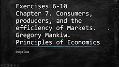 Chapter 7  Exercise 6-10.  Consumers, producers, and the efficiency of Markets. Gregory Mankiw