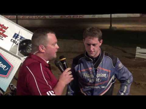 Kameron Morral in victory lane at Path Valley 6-24-17