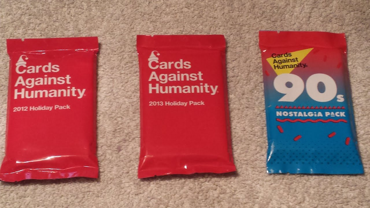 Cards Against Humanity - 2012 Holiday, 2013 Holiday, & 90s Nostalgia ...