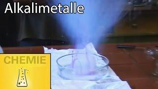 Alkali metal and water - Alkalimetalle auf Wasser