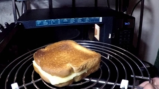 Crunchy Microwave Grilled Cheese Sandwich