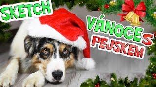 VÁNOCE S AKIMEM! SKETCH   Pes slaví Vánoce