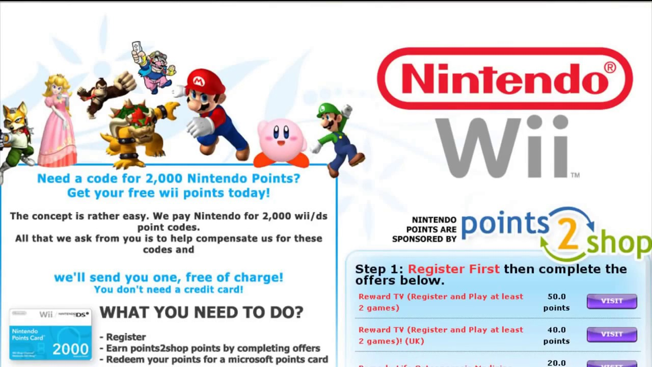 Unused 3ds points card codes - How To Get Wii Points Free Emailed To You 2017