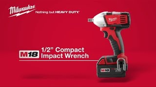 "Milwaukee® M18™ ½"" Compact Impact Wrench 2652-22"