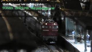 #Nゲージ #鉄道模型 #TOMIX ED75 700+旧型客車 テスト走行シーン