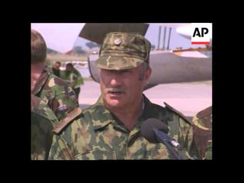 KOSOVO: PRISTINA AIRPORT: FIRST CIVILIAN PLANE LANDS