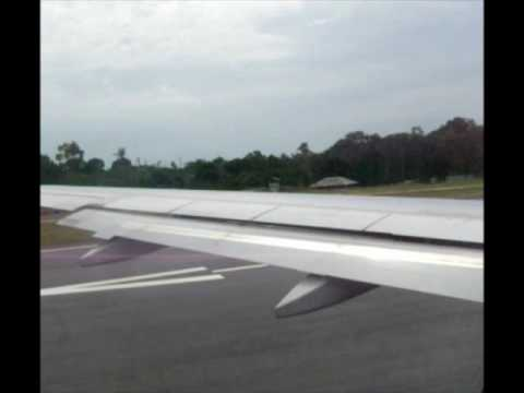 Take Off from Koh Samui Airport USM — Bangkok Airways Airbus A319
