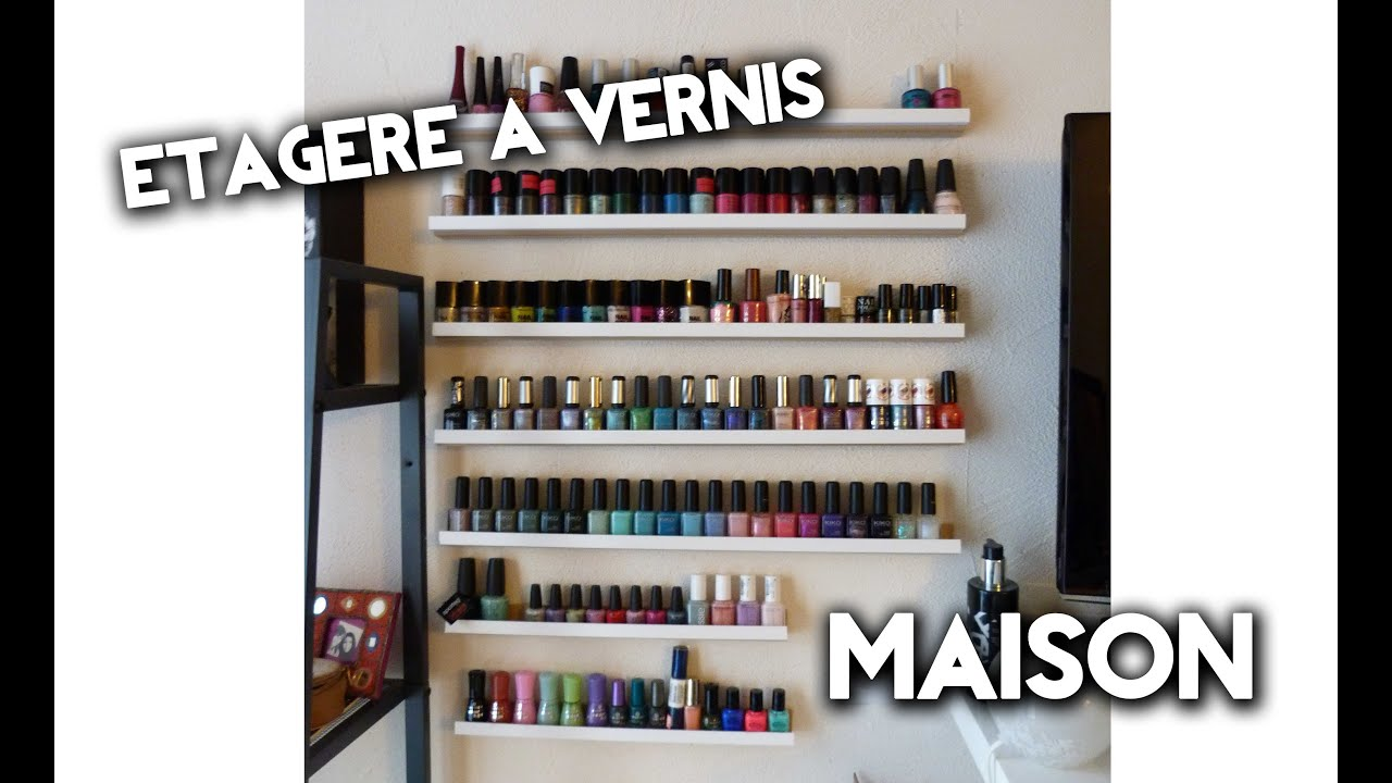 Tutoriel fabriquer son tag re vernis youtube - Meuble rangement maquillage ...