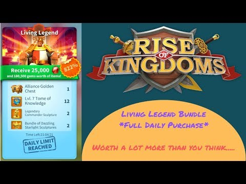 Living Legend Full Daily Purchase - Worth more than you think... - Rise of Kingdoms