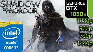Shadow Of Mordor: GTX 1050 ti - i3 6100 - 1080p - 900p - 720p - 1440p