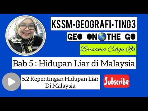Geo On The Go Bab 5 5 2 Kepentingan Hidupan Liar Di Malaysia Youtube