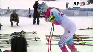 "Lindsey Vonn says her surgically repaired right knee felt ""really good"" after her first day of downh"