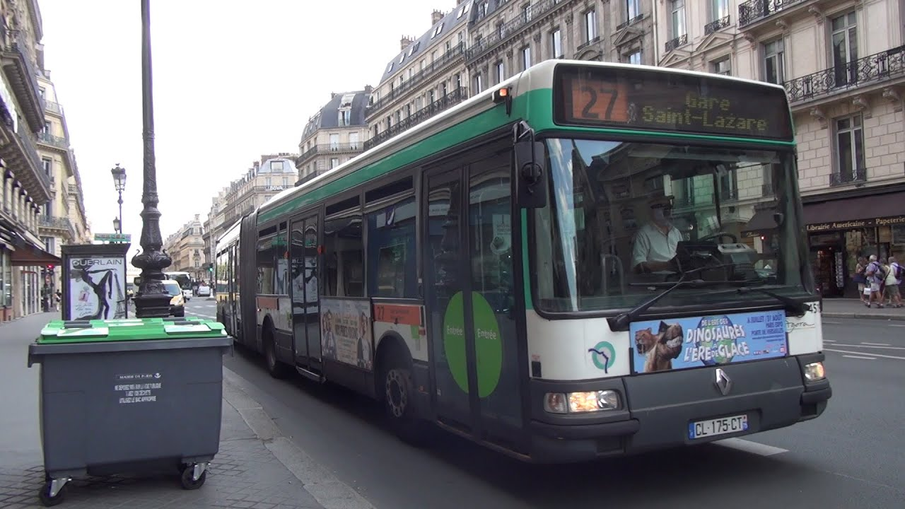 paris bus ratp renault agora l on luxembourg to mus e du louvre youtube. Black Bedroom Furniture Sets. Home Design Ideas
