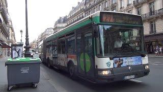 Paris Bus RATP Renault Agora L on Rt.27 Luxembourg to Musée du Louvre