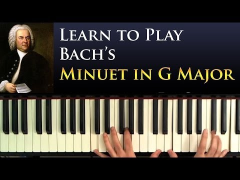 Learn to Play: Bach's Minuet in G Major (Beginner Piano Lesson)
