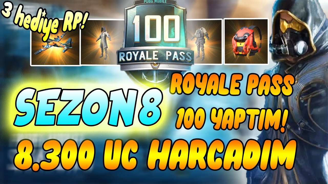 ÜCRETSİZ ROYALE PASS ALDIM 100 LEVEL YAPTIM ! 8.300 UC 100 LEVEL MAX.