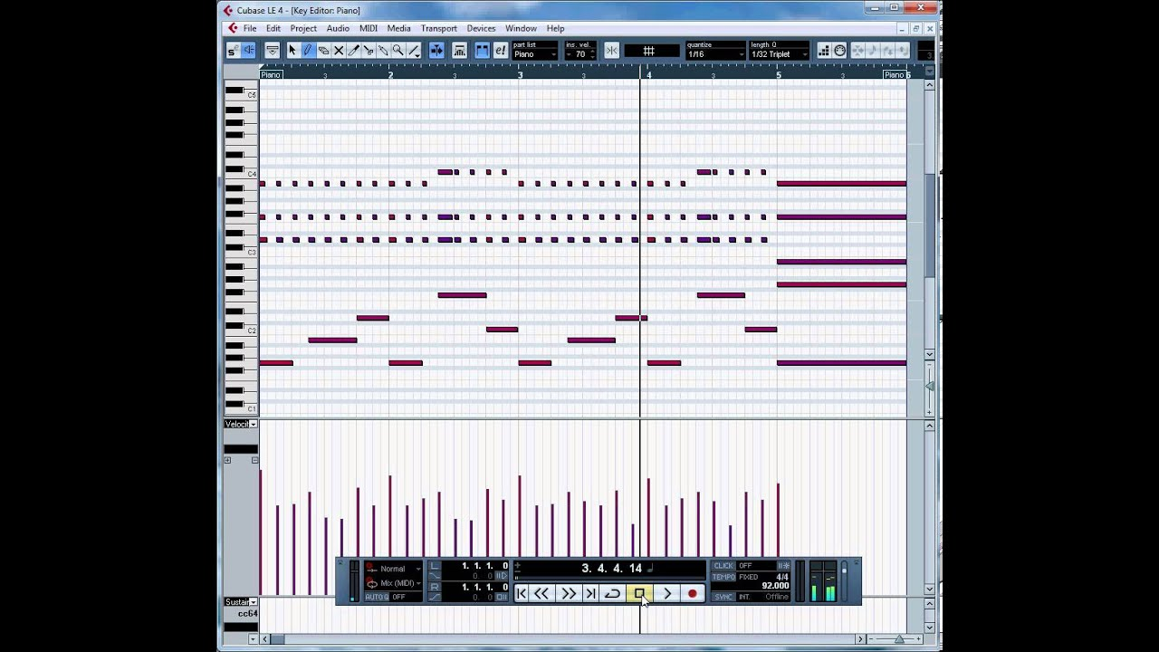 importing and editing a midi file in cubase le4 youtube. Black Bedroom Furniture Sets. Home Design Ideas