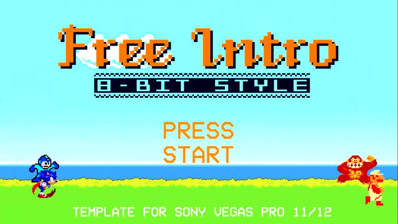 8 Bit Gaming Intro Template For Free Download Sony Vegas - YouTube
