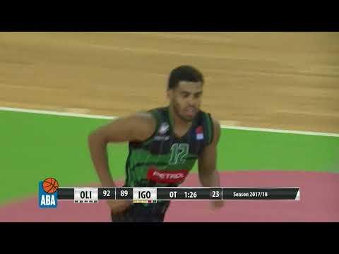 Game-changing dunk by Talor Battle (Petrol Olimpija - Igokea, 2.10.2017)