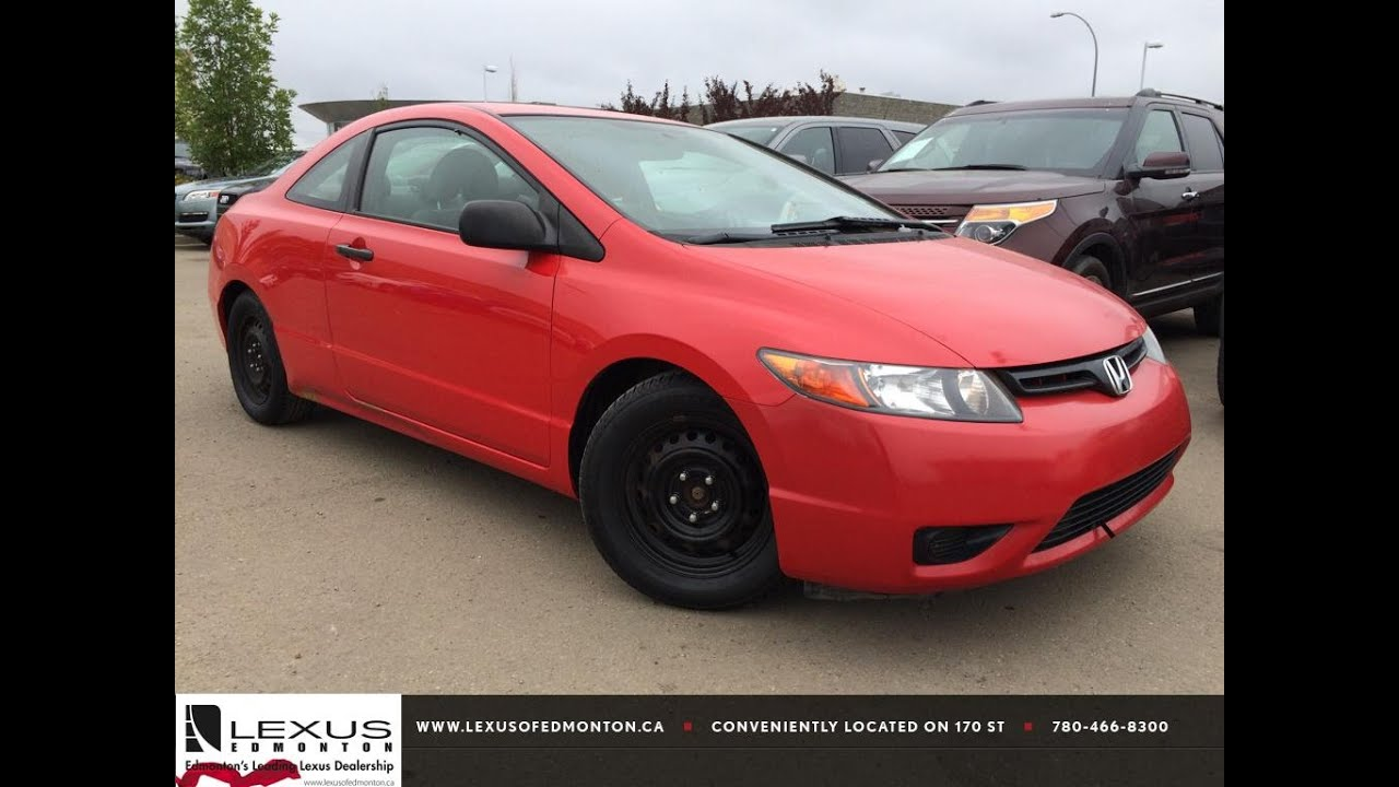 pre owned red 2006 honda civic dx g manual walk around. Black Bedroom Furniture Sets. Home Design Ideas
