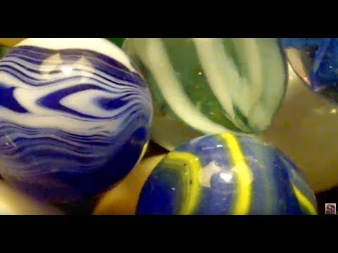 Vintage Machine Made Toy Marbles A Macro View & Marble Types