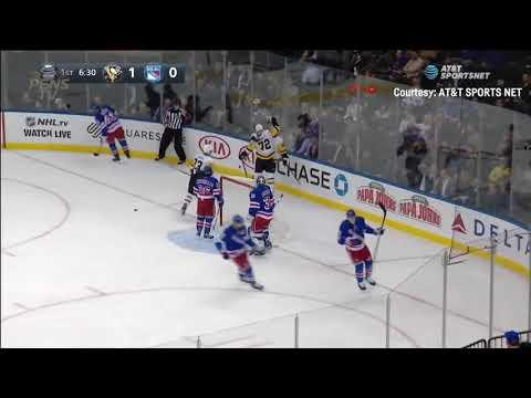 Pittsburgh Penguins vs New York Rangers 10-17-18 Carl Hagelin GOAL