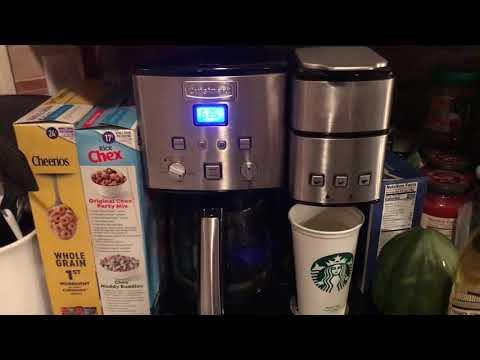 Reset Clean Light on Cuisinart Coffee Maker