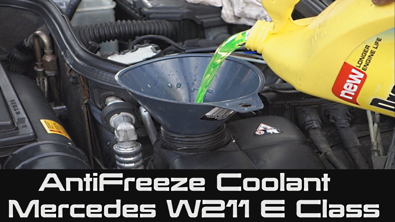 How To Change Antifreeze Engine Coolant For Mercedes E Class Mito A150 Android Jellybean 42 W211