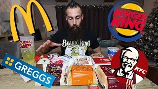 connectYoutube - The EPIC Fast Food Festive Menu Challenge | BeardMeatsFood