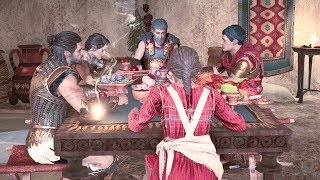 Assassins Creed Odyssey All 9 Dinner Endings (Alexios)