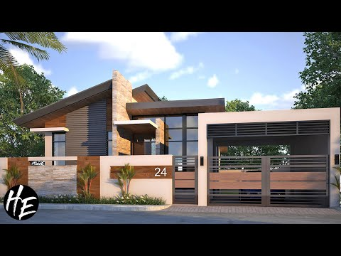 2-Bedroom Modern Small Bungalow House