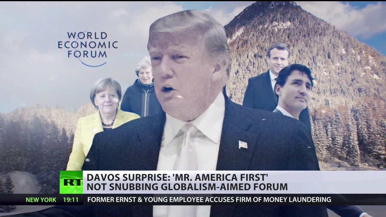Thousands-strong march denounces Trump, economic forum in Davos
