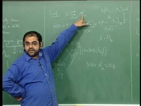 Mod-12 Lec 32 Fields of Rational Functions or Function Fields of Affine and Projective Varieties