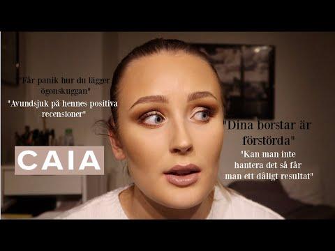 Förklarar situationen med Caia Cosmetics.