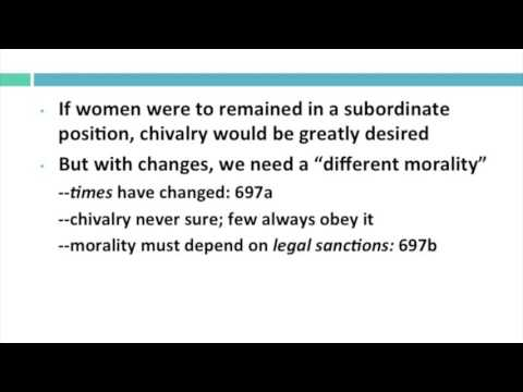 John Stuart Mill, On the Subjection of Women (Chapter 4)