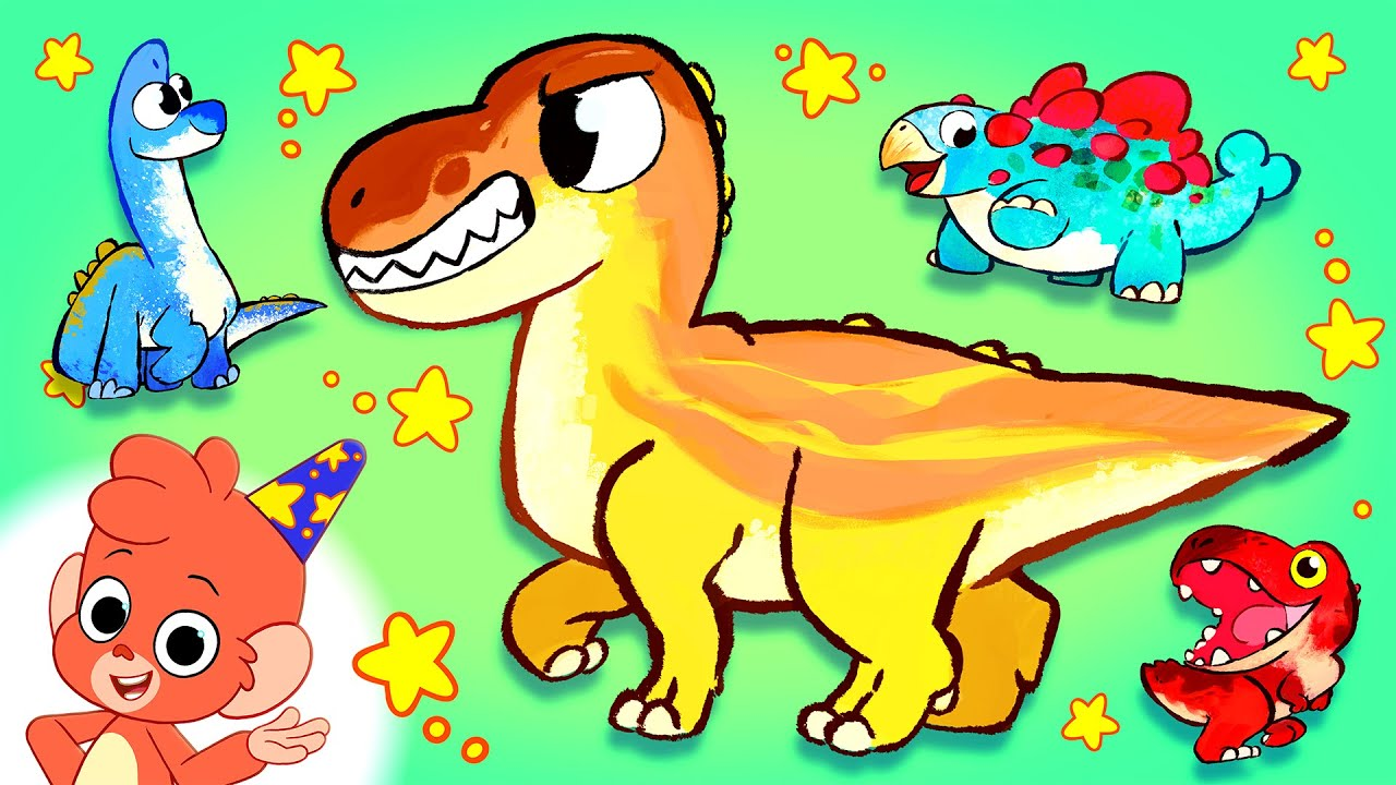 Learn Dinosaurs for Kids | T-Rex Triceratops Playing Baby Dinosaur Cartoon video  | Club Baboo