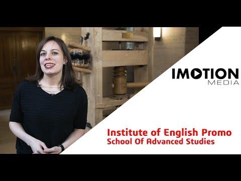 School of Advanced Studies - Institute of English Studies Promo
