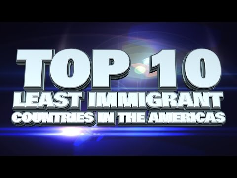 10 countries in the Americas with the least immigrants 2014