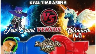 SUMMONERS WAR : JewBagel -VS- Channel 140 (World Arena)
