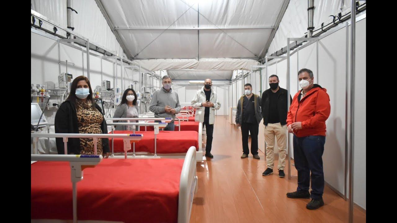 El Gobernador recorrió las instalaciones que permitirá sumar 10 camas críticas al hospital rafaelino