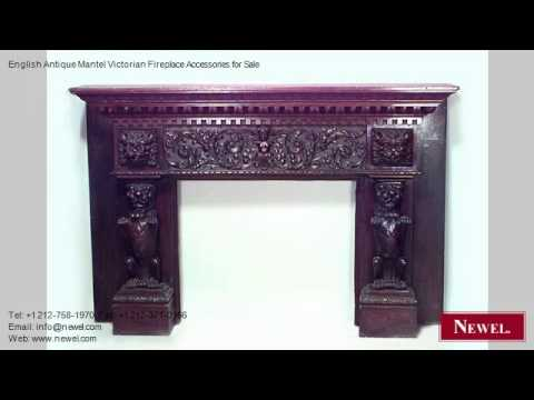 English Antique Mantel Victorian Fireplace Accessories